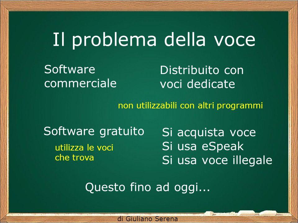 Il problema della voce Software Distribuito con voci dedicate