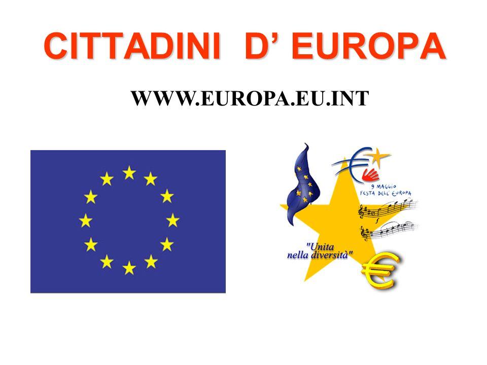 CITTADINI D' EUROPA WWW.EUROPA.EU.INT
