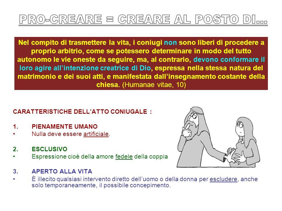 PRO-CREARE = CREARE AL POSTO DI...