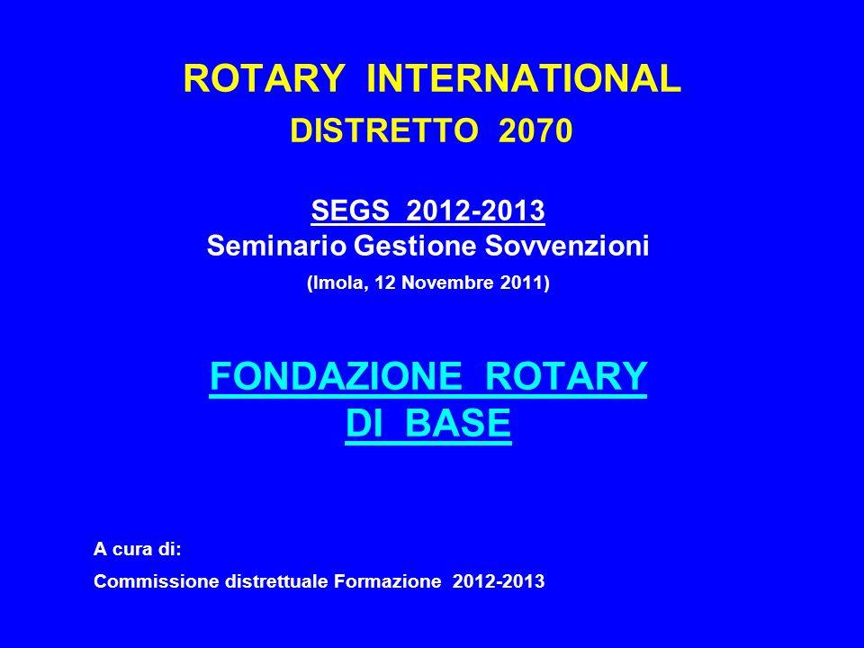 ROTARY INTERNATIONAL DISTRETTO 2070