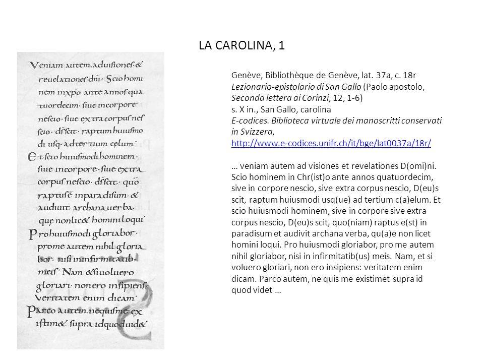 LA CAROLINA, 1