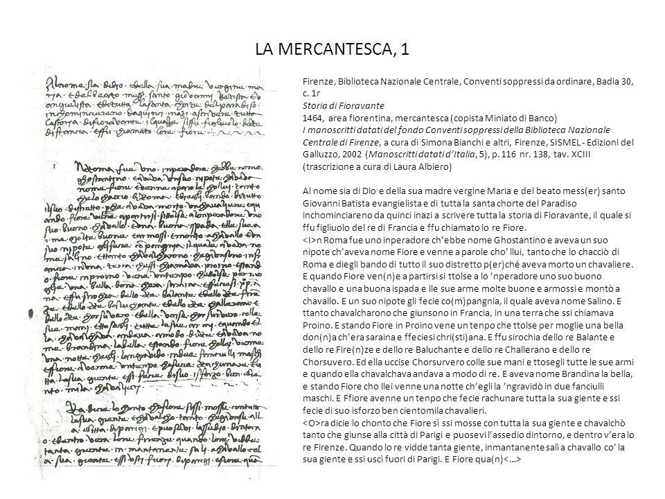 LA MERCANTESCA, 1