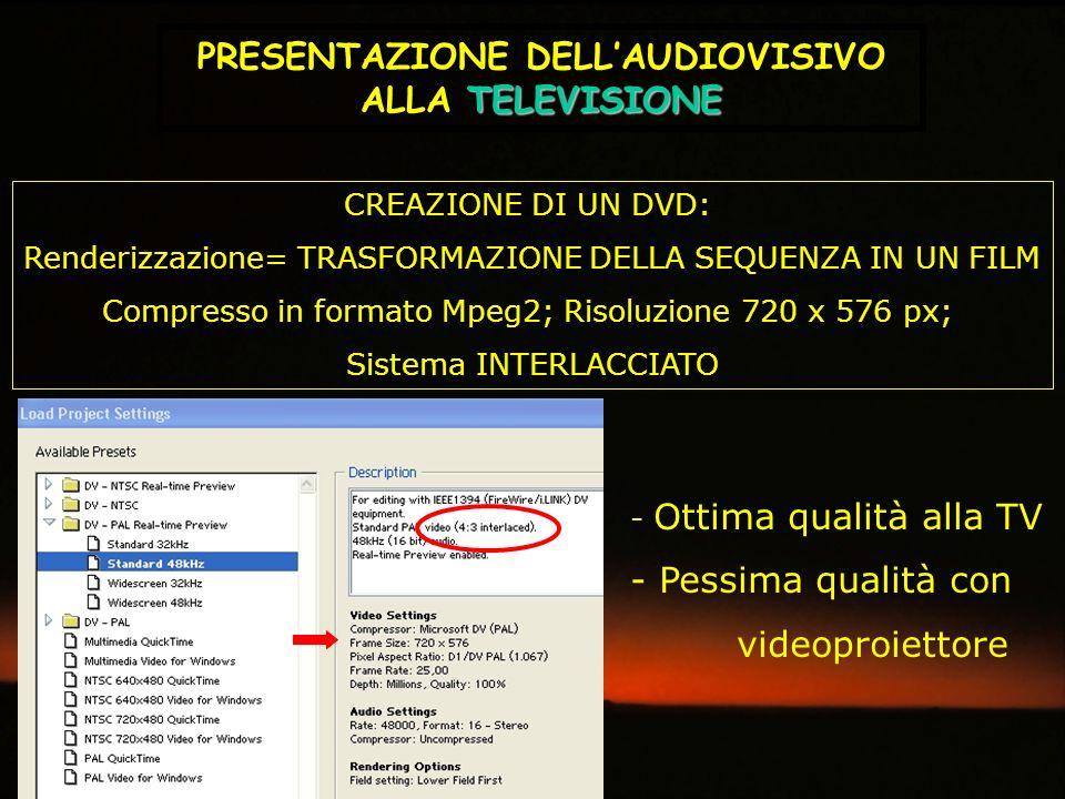 PRESENTAZIONE DELL'AUDIOVISIVO ALLA TELEVISIONE