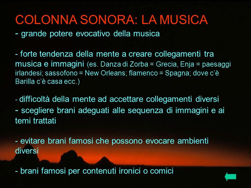 COLONNA SONORA: LA MUSICA