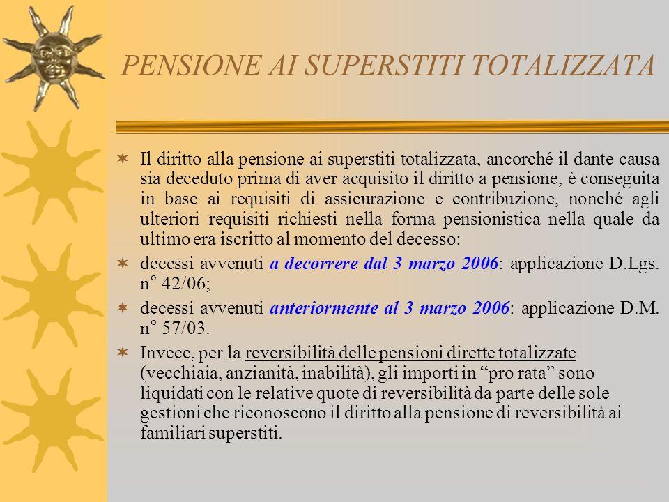 PENSIONE AI SUPERSTITI TOTALIZZATA