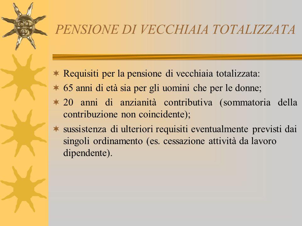 PENSIONE DI VECCHIAIA TOTALIZZATA