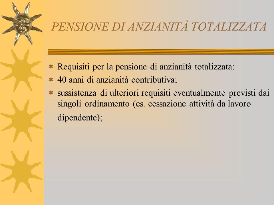 PENSIONE DI ANZIANITÀ TOTALIZZATA