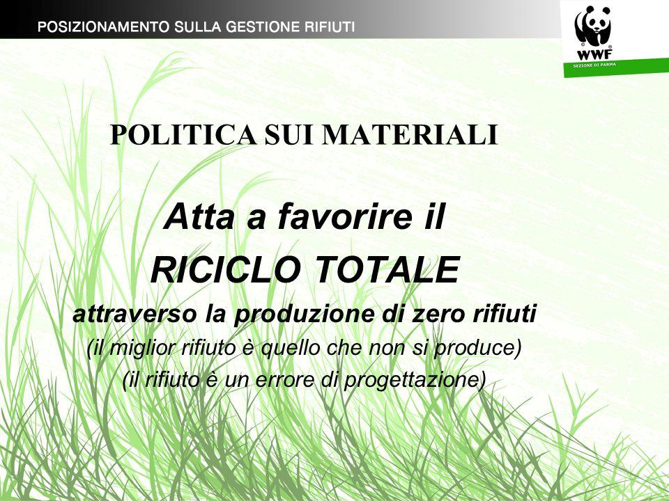 POLITICA SUI MATERIALI