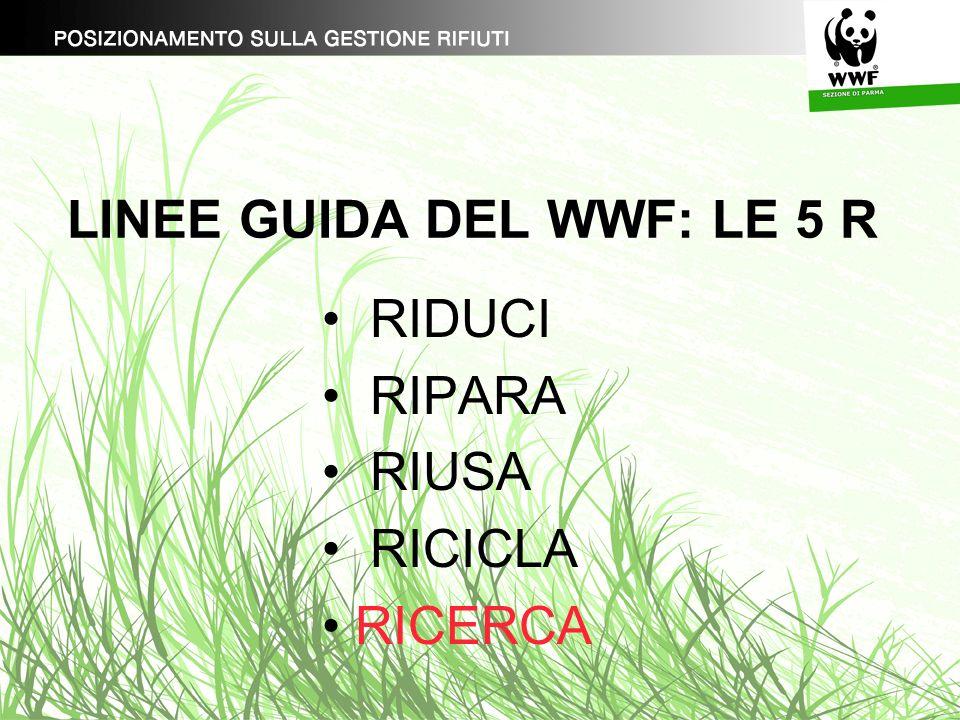 LINEE GUIDA DEL WWF: LE 5 R