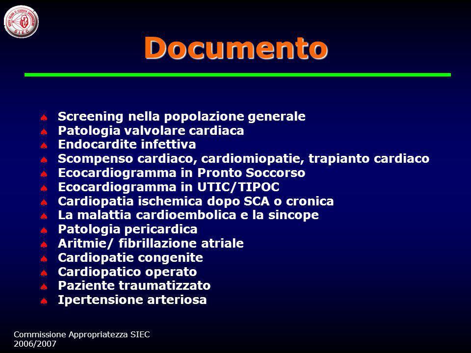 Documento Screening nella popolazione generale