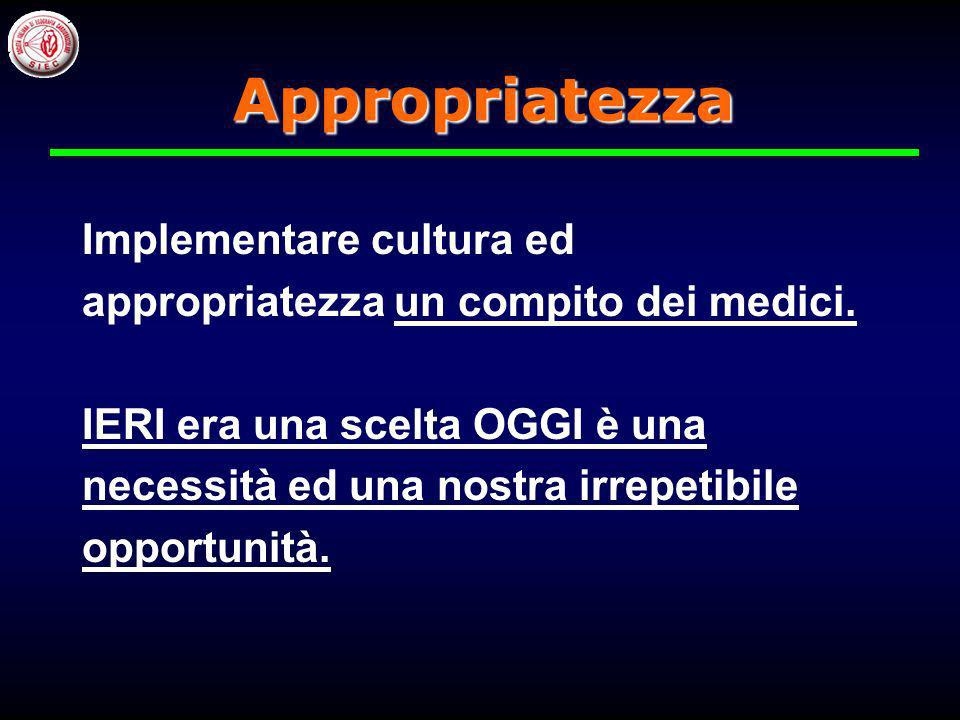 Appropriatezza Implementare cultura ed
