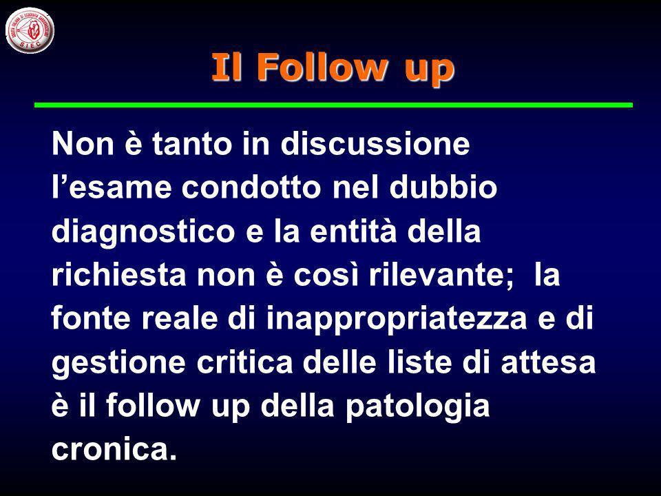 Il Follow up Non è tanto in discussione l'esame condotto nel dubbio