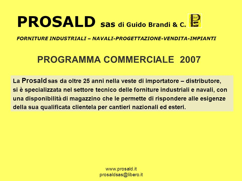 PROSALD sas di Guido Brandi & C.