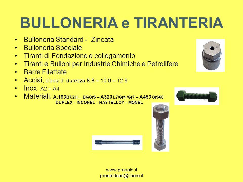 BULLONERIA e TIRANTERIA
