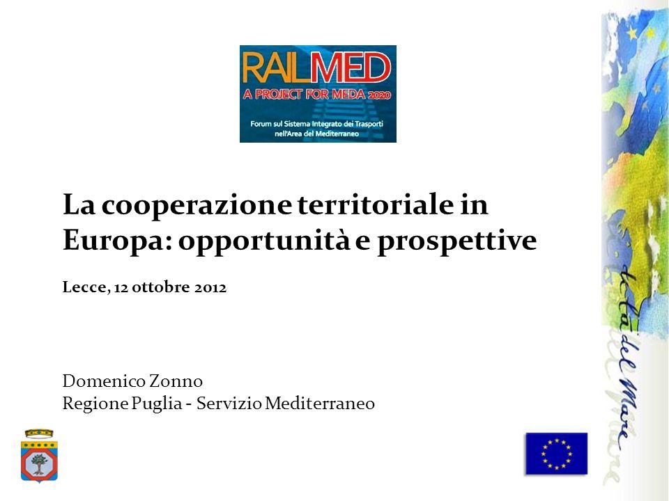 La cooperazione territoriale in Europa: opportunità e prospettive