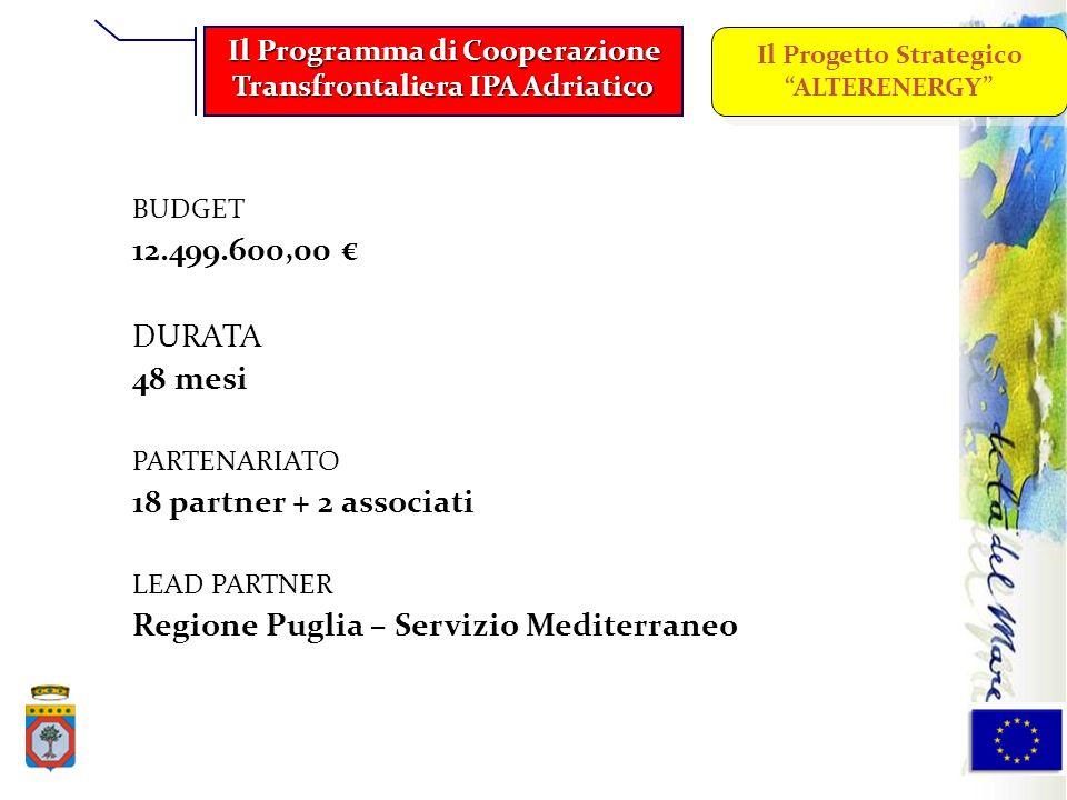 Regione Puglia – Servizio Mediterraneo