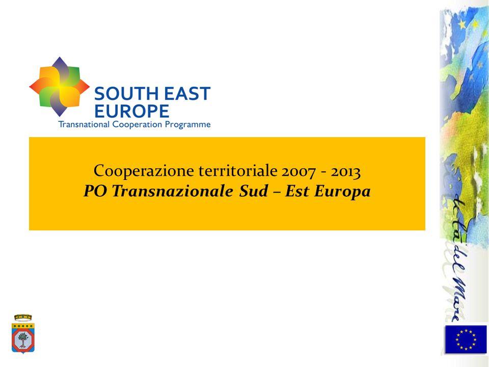 PO Transnazionale Sud – Est Europa