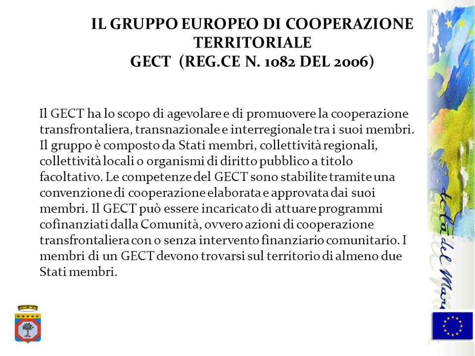 IL GRUPPO EUROPEO DI COOPERAZIONE TERRITORIALE GECT (REG. CE N