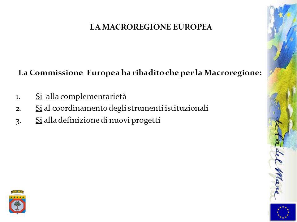LA MACROREGIONE EUROPEA