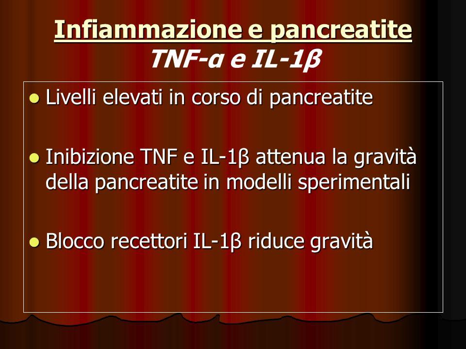 Infiammazione e pancreatite TNF-α e IL-1β