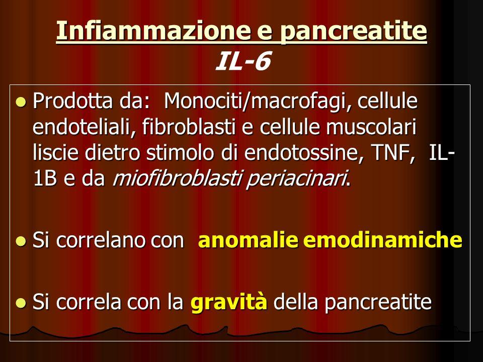 Infiammazione e pancreatite IL-6