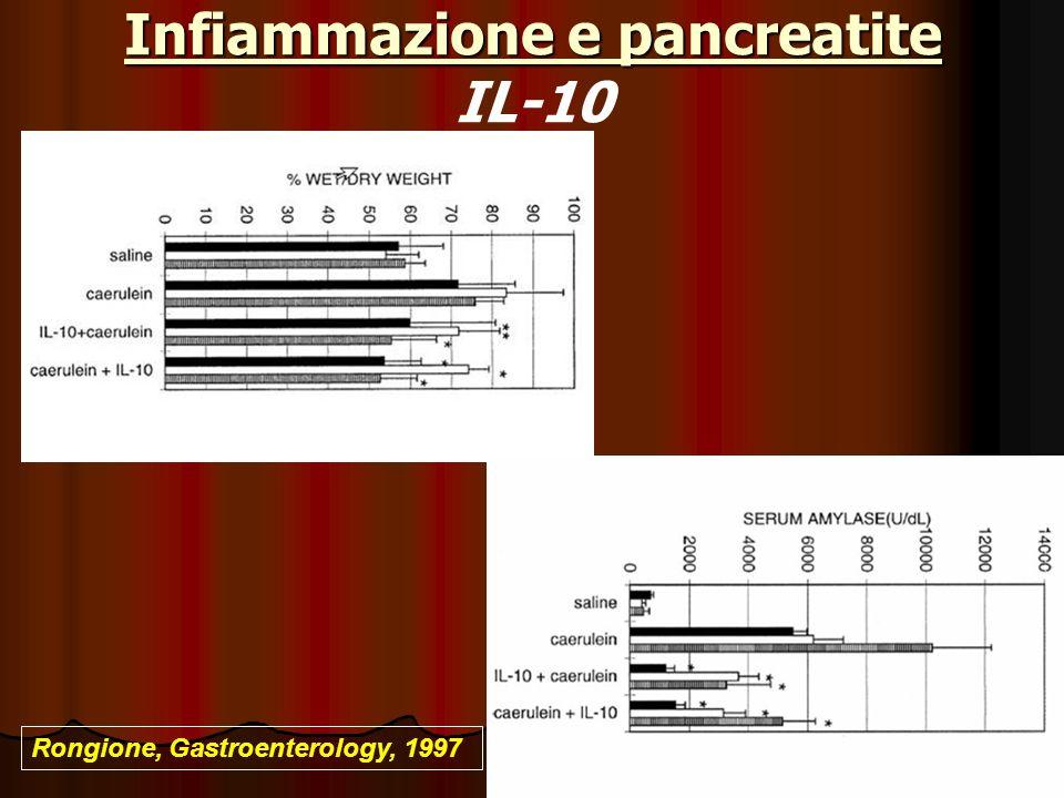 Infiammazione e pancreatite IL-10