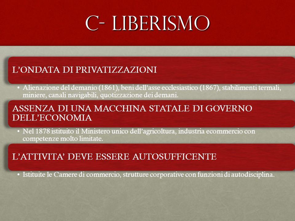 C- liberismo L'ONDATA DI PRIVATIZZAZIONI