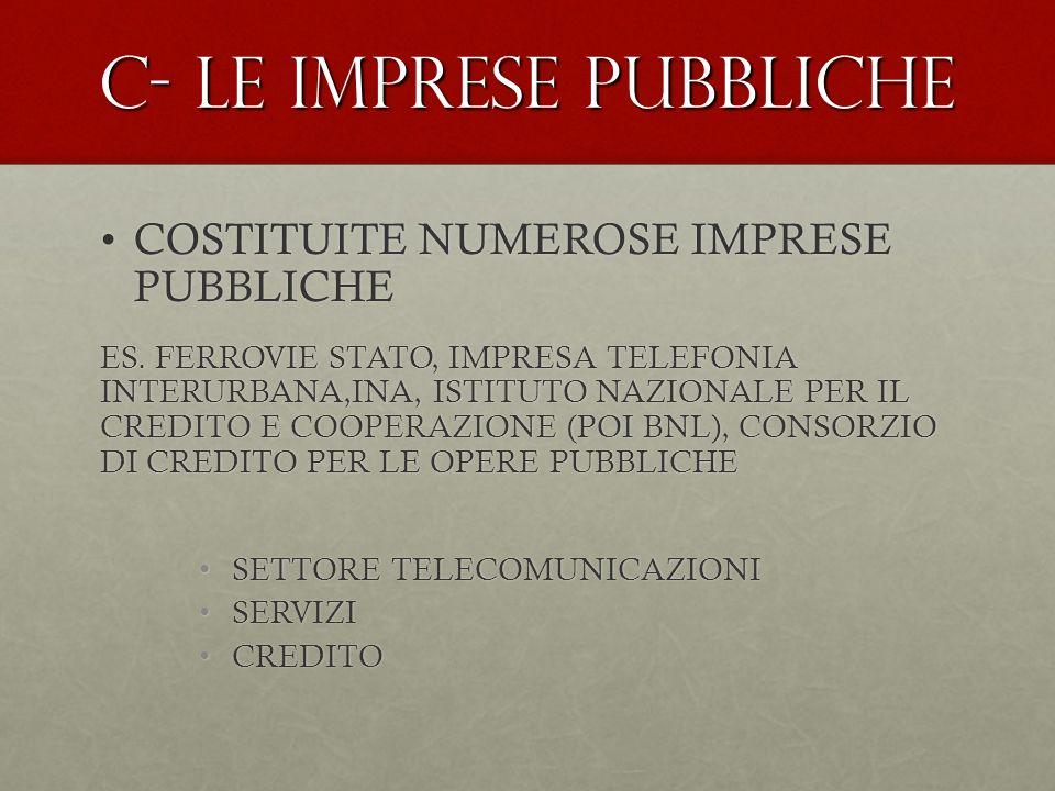 C- LE IMPRESE PUBBLICHE