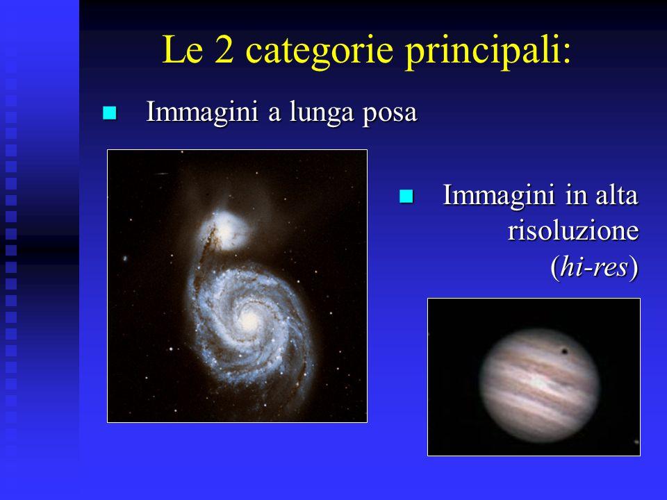 Le 2 categorie principali: