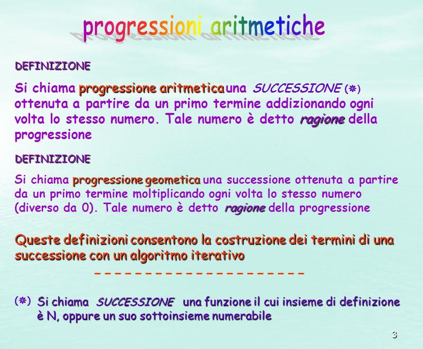 progressioni aritmetiche