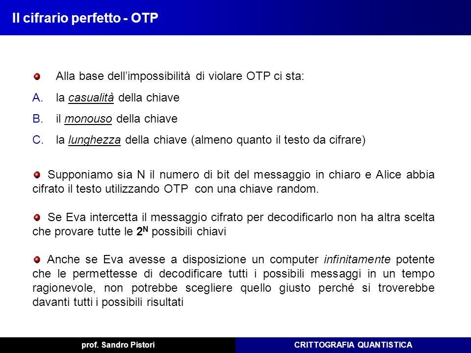 Il cifrario perfetto - OTP