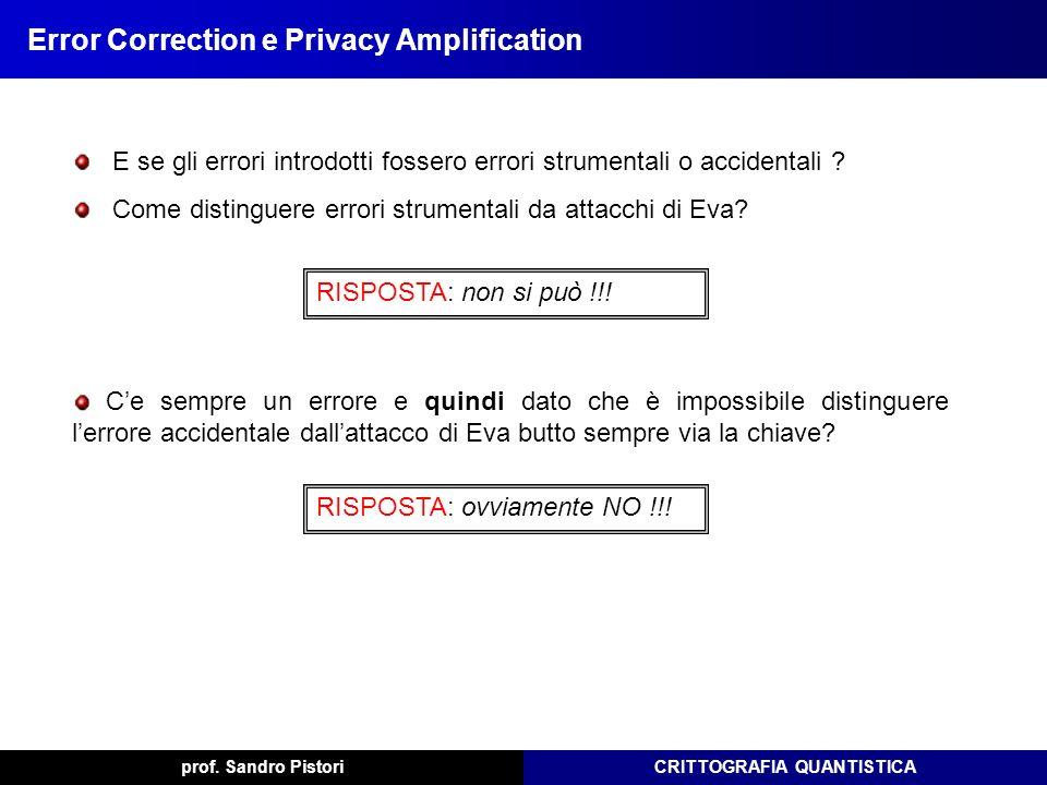 Error Correction e Privacy Amplification