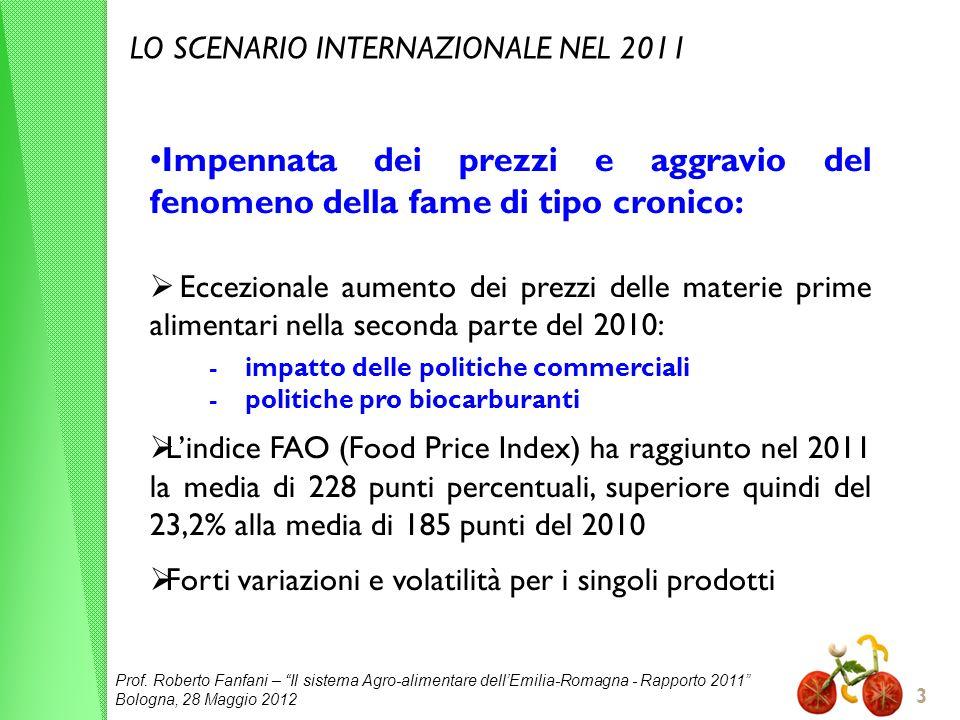 LO SCENARIO INTERNAZIONALE NEL 2011