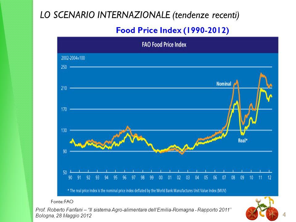 LO SCENARIO INTERNAZIONALE (tendenze recenti)