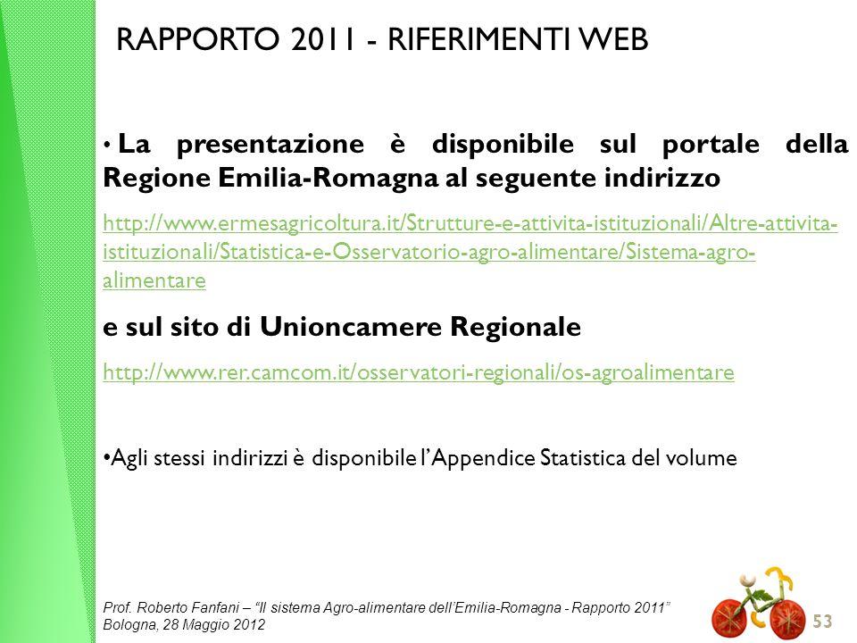 RAPPORTO 2011 - RIFERIMENTI WEB