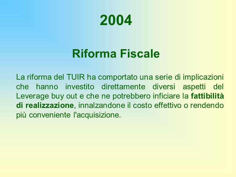 2004 Riforma Fiscale.