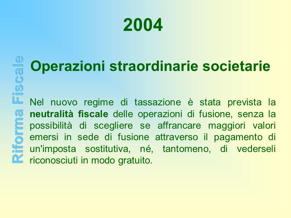 Operazioni straordinarie societarie