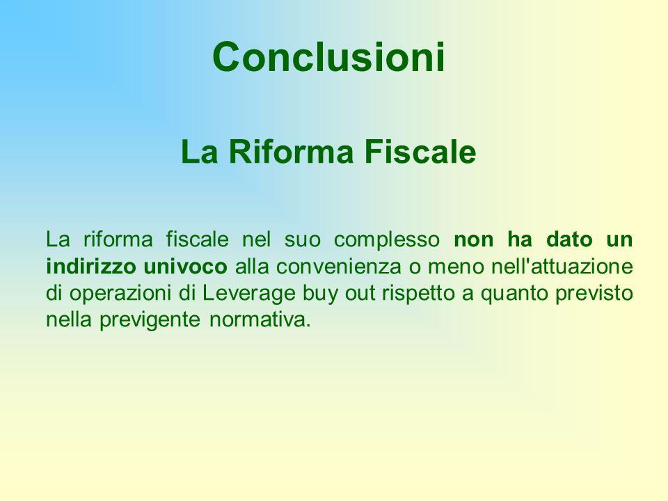 Conclusioni La Riforma Fiscale