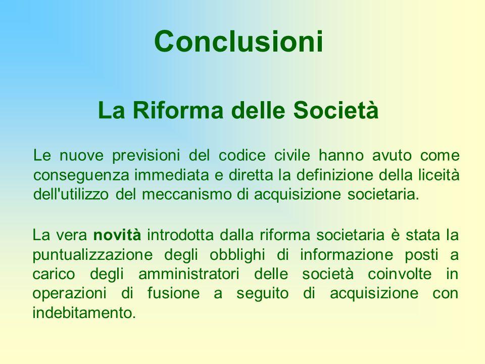 La Riforma delle Società