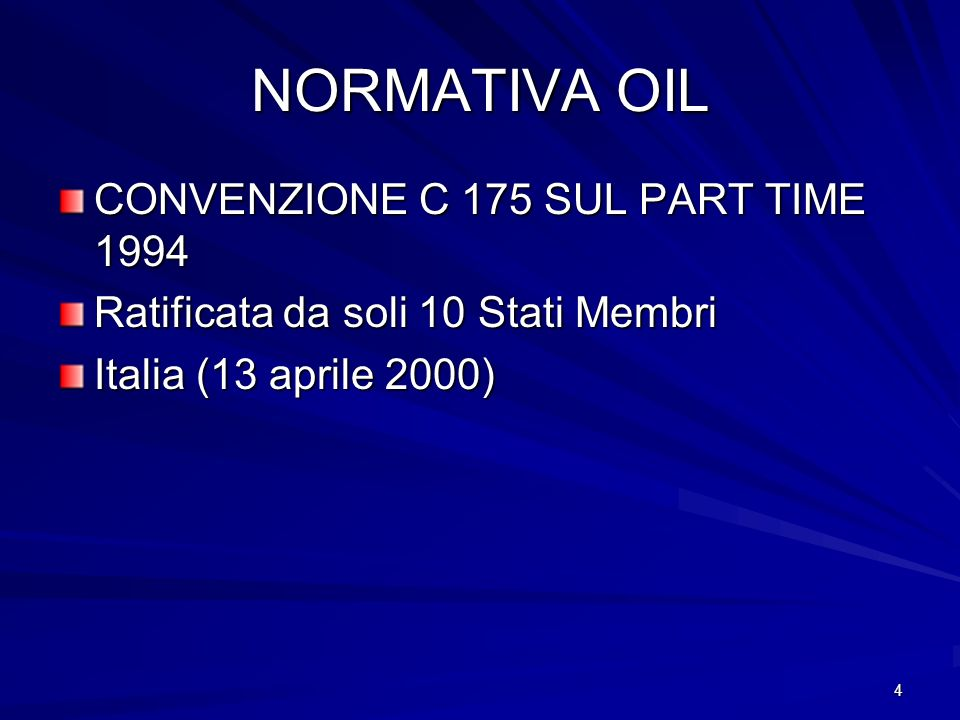 NORMATIVA OIL CONVENZIONE C 175 SUL PART TIME 1994
