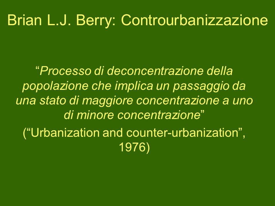 Brian L.J. Berry: Controurbanizzazione