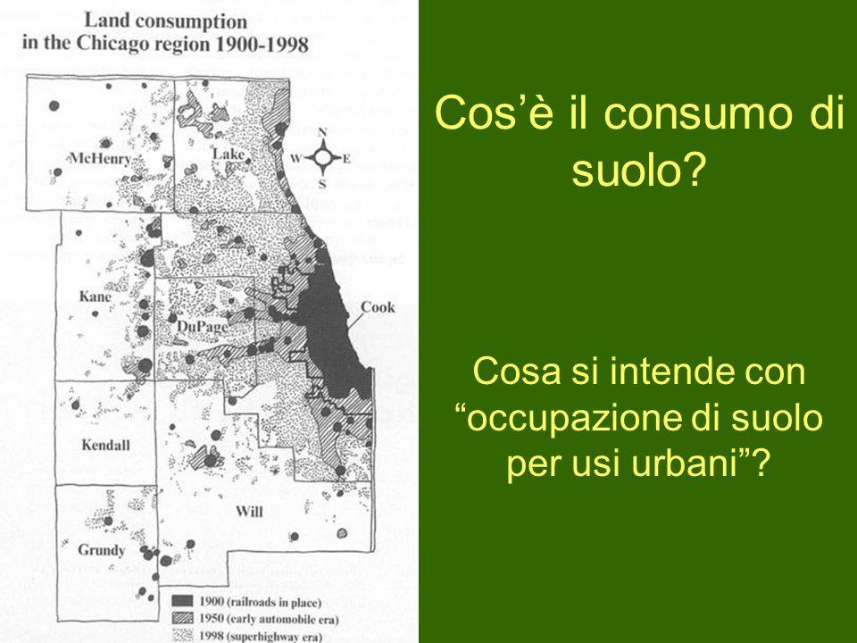 Cos'è il consumo di suolo