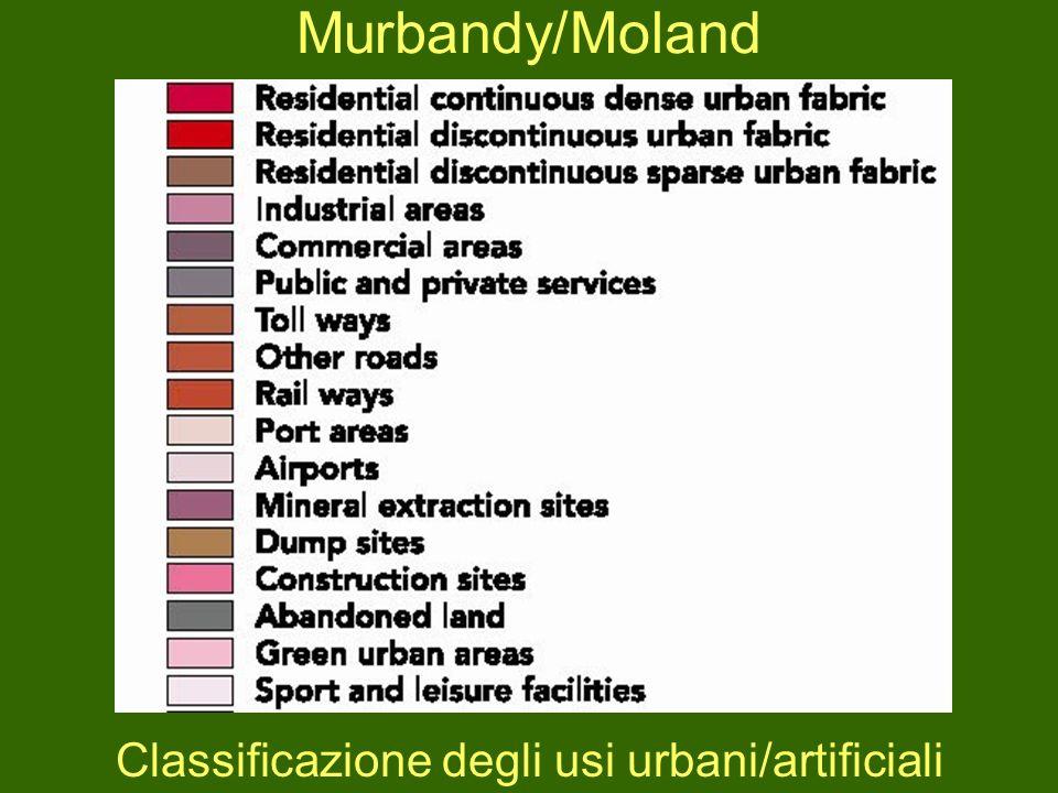 Classificazione degli usi urbani/artificiali