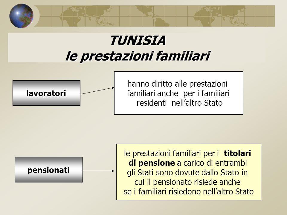 TUNISIA le prestazioni familiari