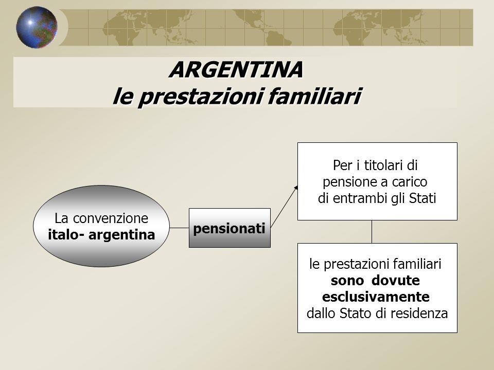 ARGENTINA le prestazioni familiari