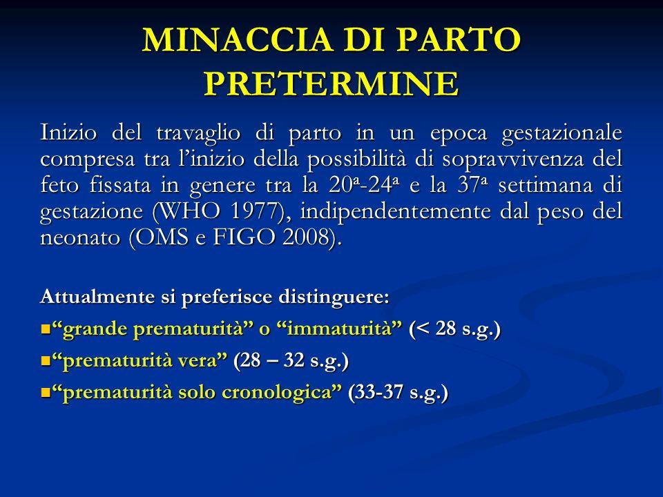 MINACCIA DI PARTO PRETERMINE