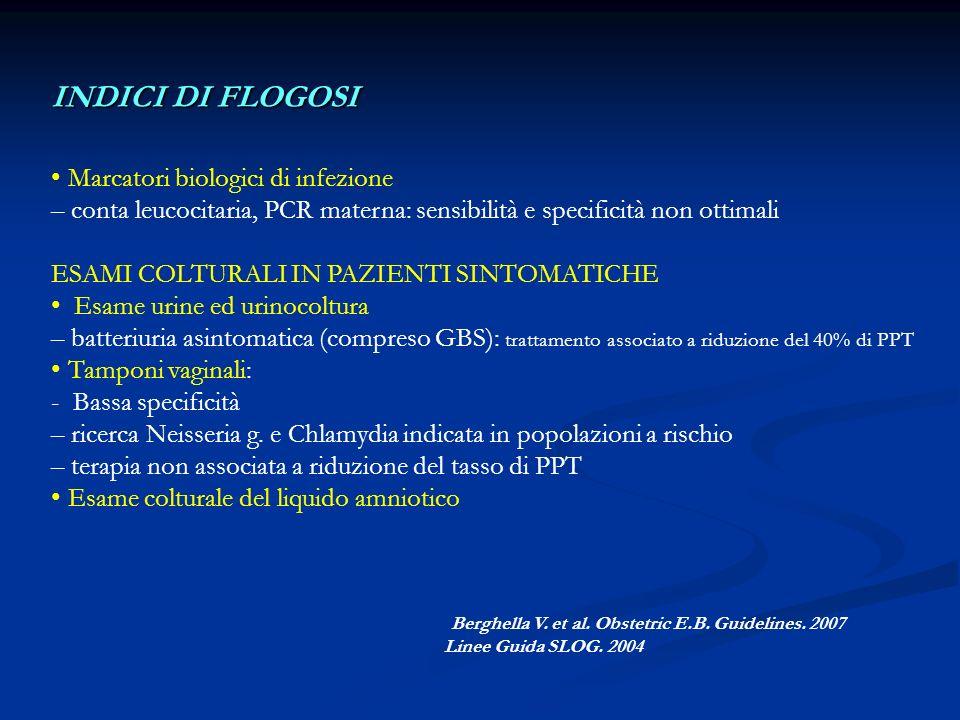 INDICI DI FLOGOSI Marcatori biologici di infezione