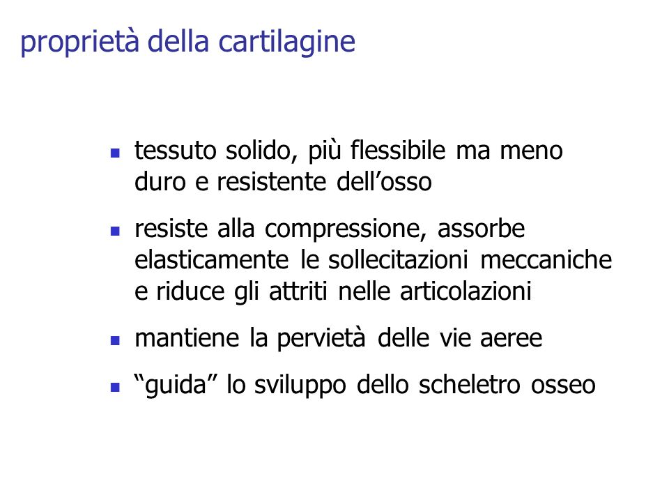 proprietà della cartilagine
