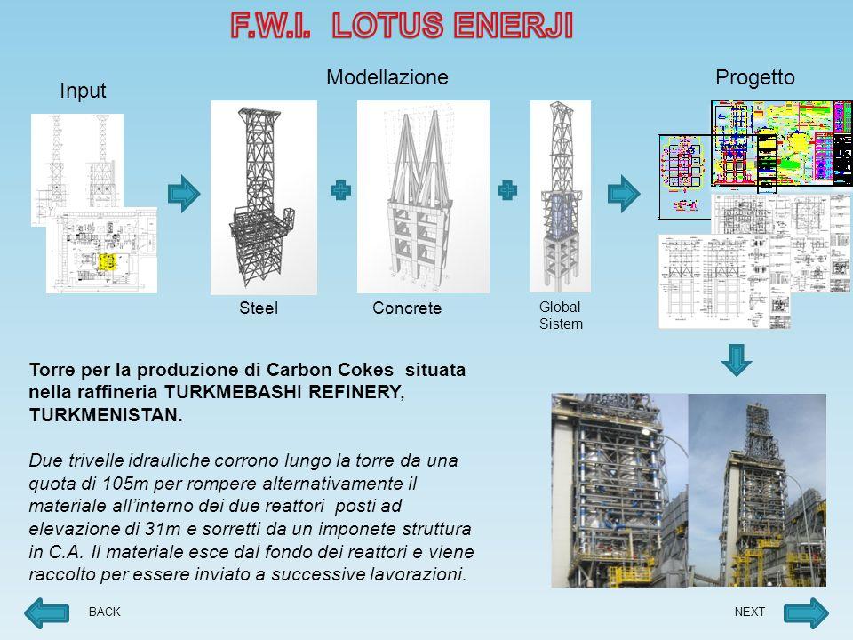 F.W.I. LOTUS ENERJI Modellazione Progetto Input