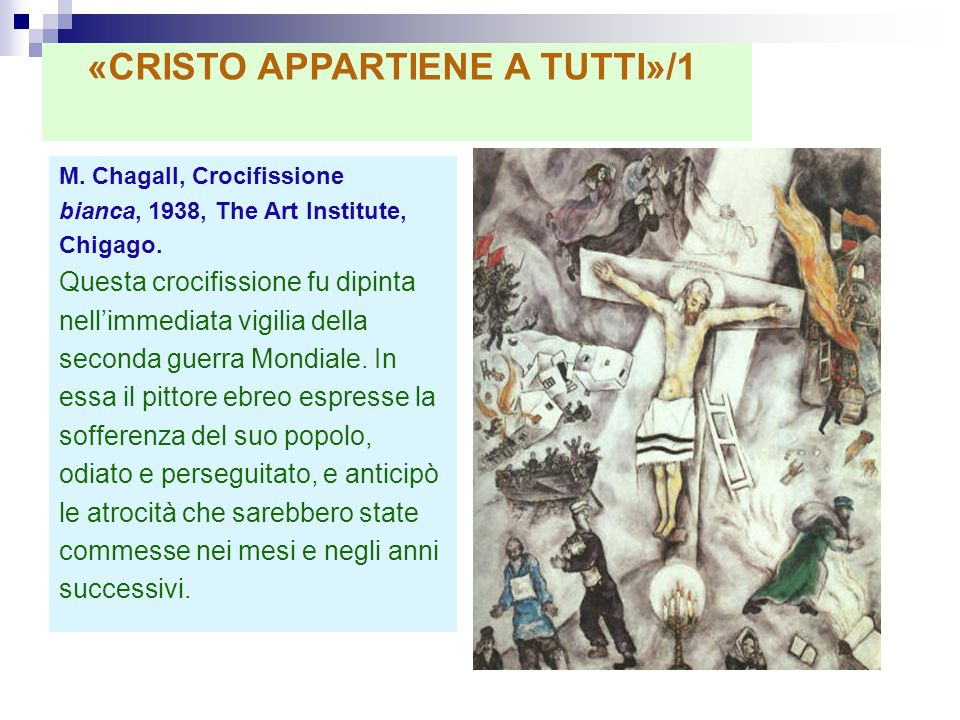 «CRISTO APPARTIENE A TUTTI»/1